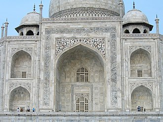 Iwan - The Taj Mahal uses iwans for both entrances and decorative features