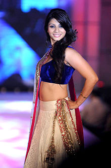 Tanisha Mukherjee walks for Manish Malhotra & Shaina NC's show for CPAA 04.jpg
