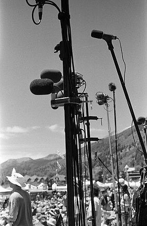Taper (concert) - Taper section at Telluride Bluegrass Festival in June 2007.