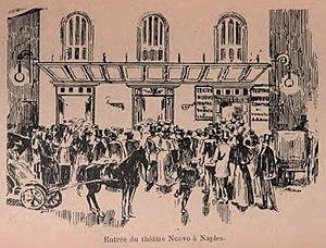 Teatro Nuovo (Naples) - Image: Teatro Nuovo entrance circa 1900