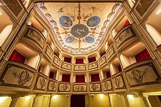Teatro della Concordia (Monte Castello di Vibio, Italy) - Image: Teatro della Concordia Monte Castello di Vibio plafonepalchi