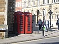 Telephone boxes in Guildhall Road, outside Guildhall - geograph.org.uk - 1411135.jpg