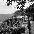 Terras van het café in de rozentuin van kasteel Langenburg, Bestanddeelnr 254-4487.jpg