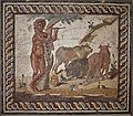 Tesselated mosaic with pastoral scene (2nd cent. A.D.) at the Archaeological Museum of Corinth on 3 June 2018.jpg