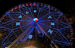 State Fair of Texas - Texas Star Ferris wheel at night