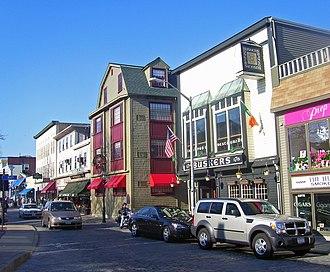 Newport Historic District (Rhode Island) - Shops along Thames Street