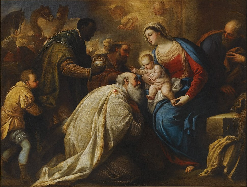 The Adoration of the Magi, oil on canvas painting by Luca Giordano, called Fa Presto
