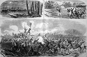 Battle of New Bern - Battle of New Bern as illustrated in Harper's Weekly. 5 April 1862