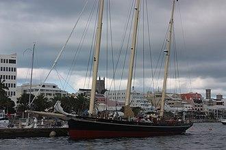 Spirit of Bermuda - Image: The Bermuda Sloop Spirit of Bermuda at the Royal Bermuda Yacht Club