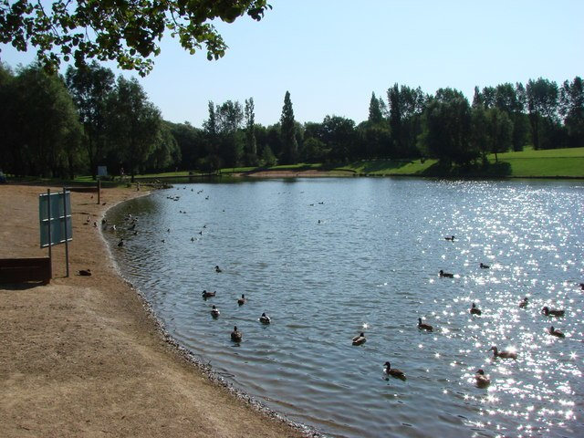 The Boating Lake, Hemsworth Water Park - geograph.org.uk - 244646