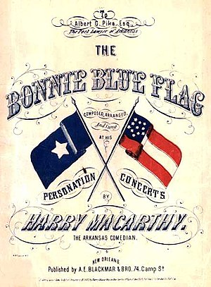 Gone with the Wind (novel) - The Bonnie Blue Flag, is an 1861 marching song that refers to the first unofficial flag of the Confederacy.