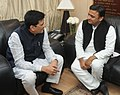 The Chief Minister of Uttar Pradesh, Shri Akhilesh Yadav meeting the Minister of State (Independent Charge) for Power, Coal and New and Renewable Energy, Shri Piyush Goyal, in New Delhi on December 03, 2014.jpg