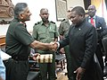 The Chief of Army Staff, General V.K Singh meeting the Defence Minister of Mozambique, Mr. Filipe Jacinto Nyusi, in New Delhi on June 28, 2011.jpg