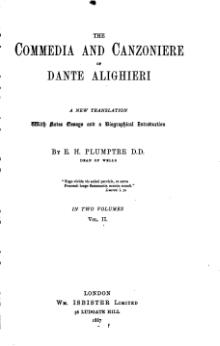 The Commedia and Canzoniere of Dante Alighieri, vol ii.djvu
