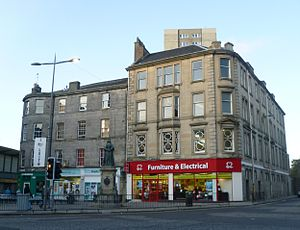 Constitution Street - The foot of Leith Walk with Constitution Street on the right