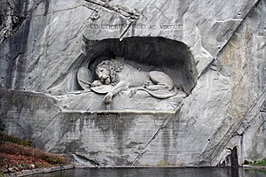 The Lion Monument in Luzern