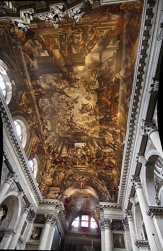 Giovanni Antonio Fumiani - Ceiling at San Pantalon.