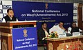 The Minister of State for Minority Affairs, Shri Ninong Ering addressing at the inauguration of the National Conference on Waqf (Amendment) Act, 2013, in New Delhi on November 06, 2013.jpg