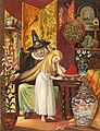 The Old Witch combing Gerda's hair with a golden comb to cause her to forget her friend.jpg