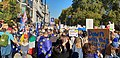 The People's Vote March of 20 October 2018 passing along Picadilly next to Green Park (on the right).jpg