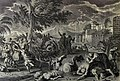 The Phillip Medhurst Picture Torah 341. The plague of hail and fire. Exodus cap 9 vv 23-25. Mortier.jpg