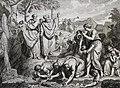 The Phillip Medhurst Picture Torah 406. Moses striking the rock. Exodus cap 17 v 6. Dutch Bible.jpg