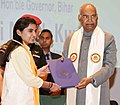 The President, Shri Ram Nath Kovind presenting the degree certificate to a student at the 8th Convocation of National Institute of Technology Patna, at Patna, in Bihar on November 15, 2018 (1).JPG