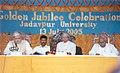 The President Dr. A.P.J. Abdul Kalam at the Golden Jubilee Celebrations of Jadavpur University, Kolkata on July 14, 2005.jpg