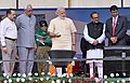 The Prime Minister, Shri Narendra Modi inaugurating Shri Mata Vaishno Devi Shrine Board Sports Complex, at Katra, in Jammu and Kashmir.jpg