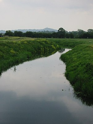 Westhay Moor - The River Brue at Westhay