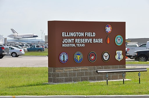 The Space Shuttle Endeavour arrives at Ellington International Airport in Houston, Sept 120919-A-YQ539-188