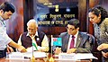 The Union Minister for Civil Aviation, Shri Ashok Gajapathi Raju Pusapati and the Attorney General of Fiji, Mr. Aiyaz Sayed-Khaiyum signing the Air Services Agreement between India and Fiji, in New Delhi on March 08, 2017.jpg