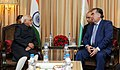 The Vice President, Shri M. Hamid Ansari calling on the President of the Republic of Tajikistan, Mr. Emomali Rahmon, in New Delhi on December 17, 2016 (1).jpg