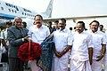 The Vice President, Shri M. Venkaiah Naidu being bid farewell by the Governor of Tamil Nadu, Shri Banwarilal Purohit and the Deputy Chief Minister of Tamil Nadu, Shri O. Panneerselvam, on his departure, in Chennai.jpg