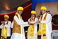 The Vice President, Shri M. Venkaiah Naidu presenting degree to the student, at the 3rd Convocation of Makhanlal Chaturvedi Rashtriya Patrakarita Avam Sanchar Vishwavidyalay, in Bhopal, Madhya Pradesh.JPG