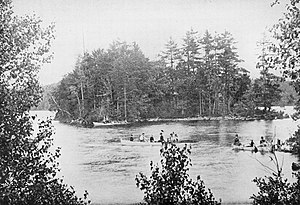 Wallkill River - Wallkill River in Orange County, 1899