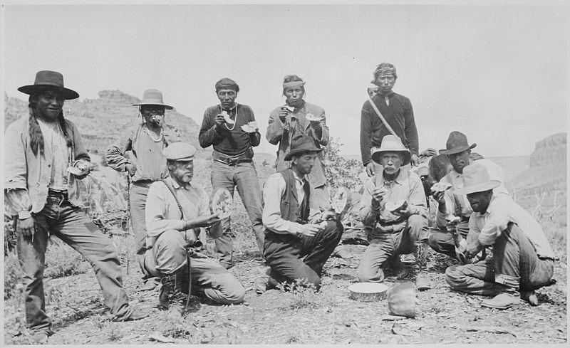 File:The William B. Douglas party, including Navaho and Paiute Indians, celebrate their discovery of Rainbow Bridge, Utah, as - NARA - 559304.jpg