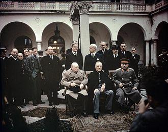 Yalta Conference - Image: The Yalta Conference, Crimea, February 1945 TR2828