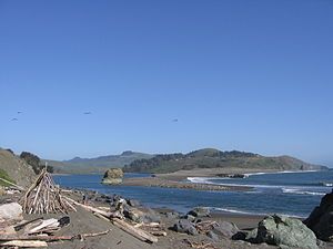 Russian River (California) - The estuary of the Russian River, north of Bodega Bay