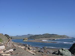 Russian River (California) - The estuary of the Russian River, north of Bodega Bay