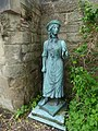 The gardens of St John's House, Warwick - bronze statues (26562136803).jpg