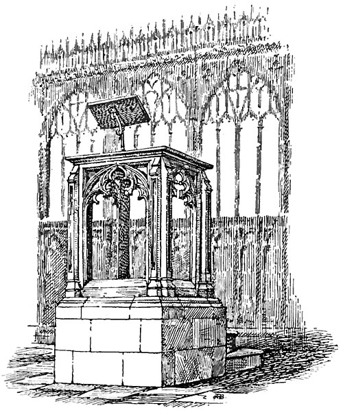 The modern-gothic pulpit, Kenton (An Old English Home and Its Dependencies).jpg