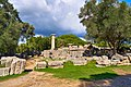 The remains of the Temple of Zeus in Olympia on October 14, 2020.jpg