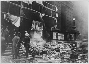 Chicago Federal Building - Adams Street entrance after the 1918 bombing