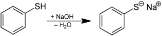 Thiol - Synthesis of thiophenolate from thiophenol