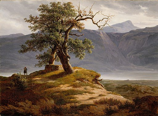 Thomas Fearnley - Landscape with a Wanderer - NG.M.04452 - National Museum of Art, Architecture and Design