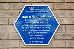 Photo of Royal Society of Chemistry's publishing operation blue plaque