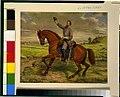 Thomas Jonathan Jackson, full-length portrait, on horseback, facing left, holding up hat in his right hand LCCN92514006.jpg