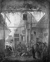 The Yard of an Italian Tavern
