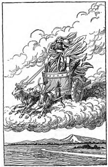Thor and Loki in the Chariot by H. L. M.jpg